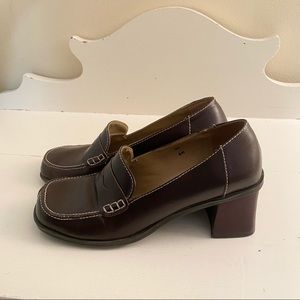 Two Lips Mia Brown Chunky Loafers Vintage